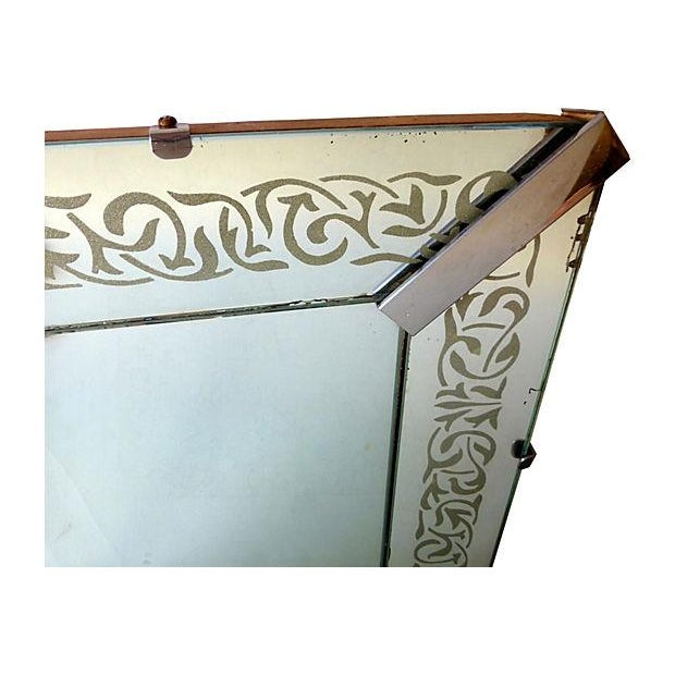 Image of Large Etched Mirror Framed Mirror