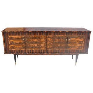 "French Art Deco Exotic Macassar Ebony ""Mushta"" Sideboard / Buffet, circa 1940s"