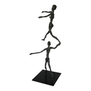 Mid-Century Modern Figurative Bronze Sculpture
