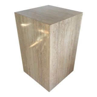 Faux Marble Pedestal Stand