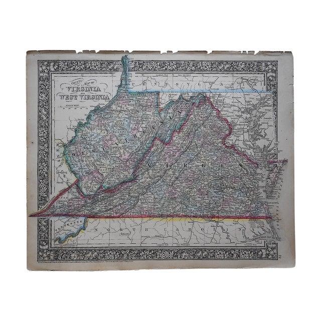 Antique 1862 Virginia & West Virginia Map - Image 1 of 3