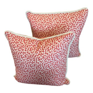 Nina Campbell Red & White Pillows - A Pair