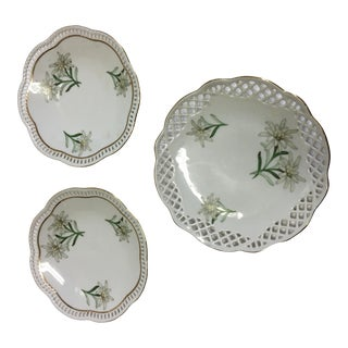 Bavaria Schumann Porcelain Floral Plates - Set of 3