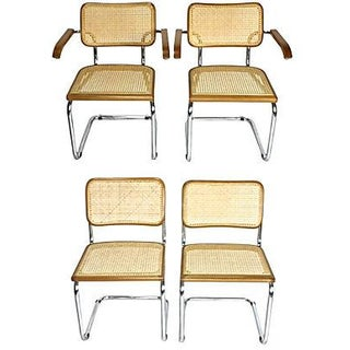 Marcel Breuer-Style Cesca Dining Chairs- Set of 4