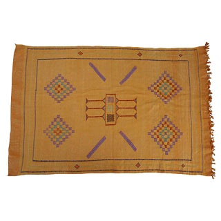 "Moroccan Cactus Silk Rug in Orange - 3' X 4' 7"""