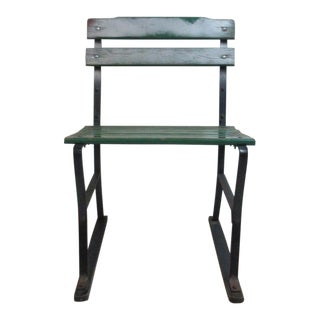 Antique Metal Wood Outdoor Bench