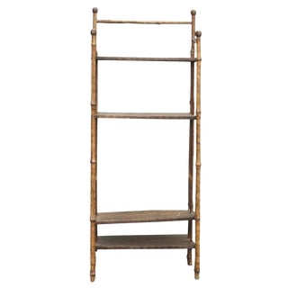 Petite Light Brown Chinoiserie Bookcase
