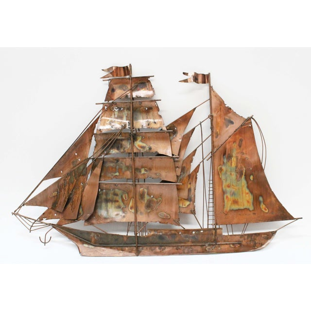 Brutalist Mid Century Ship Wall Sculpture - Image 5 of 6