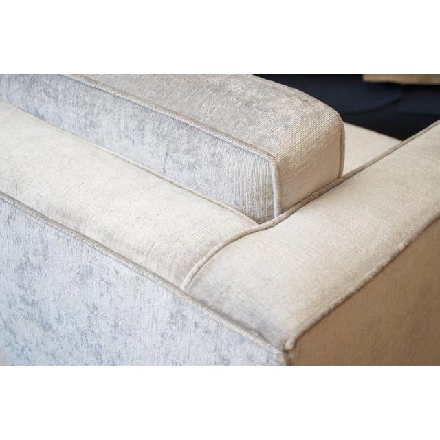 Knoll Club Chair in Distressed Silver Velvet - Image 5 of 5
