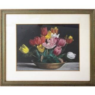 Vintage Pastel Tulip Still Life