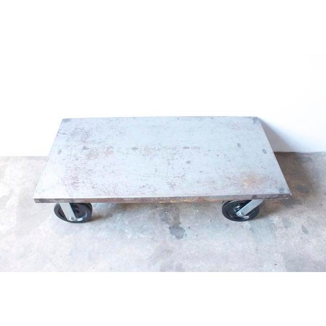Industrial Metal Coffee Table - Image 6 of 7