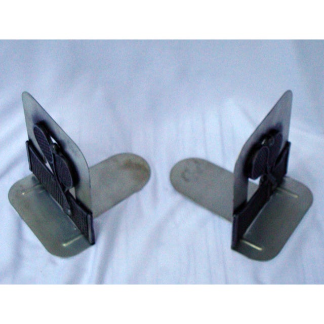 Vintage Silver Metal Tennis Bookends - Image 8 of 9