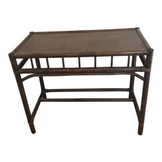 Vintage Wood Bamboo Table