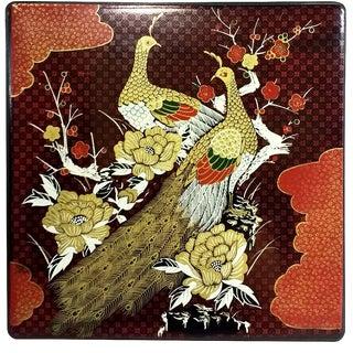 Lacquer Peacock Japanese Bento Box