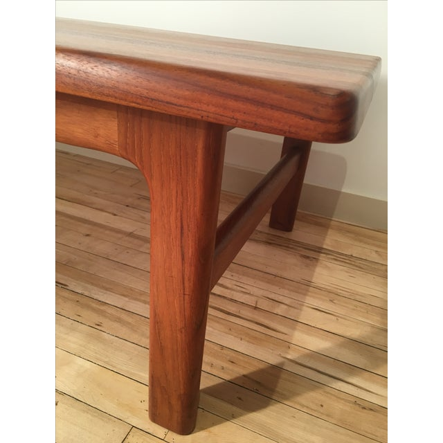 Solid Teak Danish Modern Coffee Table - Image 6 of 6