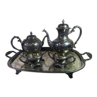 Vintage F.B. Rogers Silver Co. Silver Plated 5-Piece Tea Set