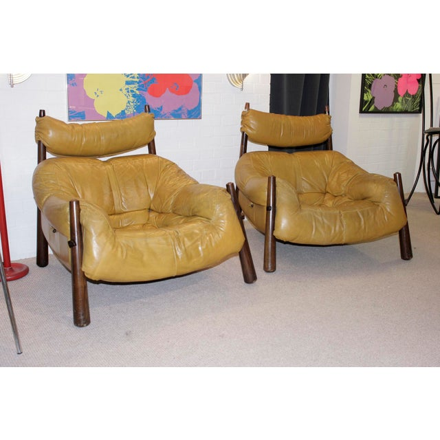 Percival Lafer Leather Armchairs - A Pair - Image 3 of 4