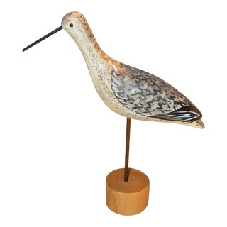 Decorative Wooded Bird on Stand