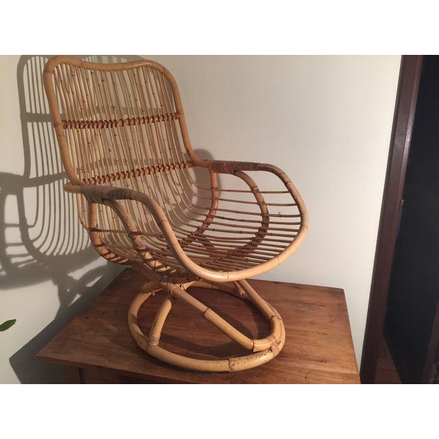 Mid-Century Rattan Chair - Image 2 of 11