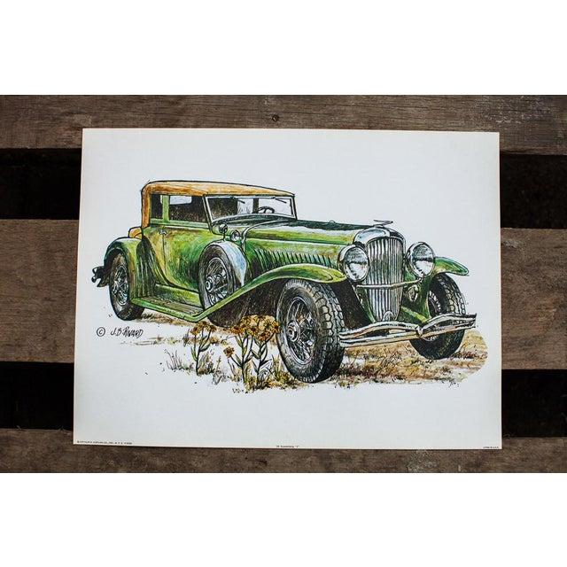 Duesenberg Car Vintage Lithograph - Image 4 of 4