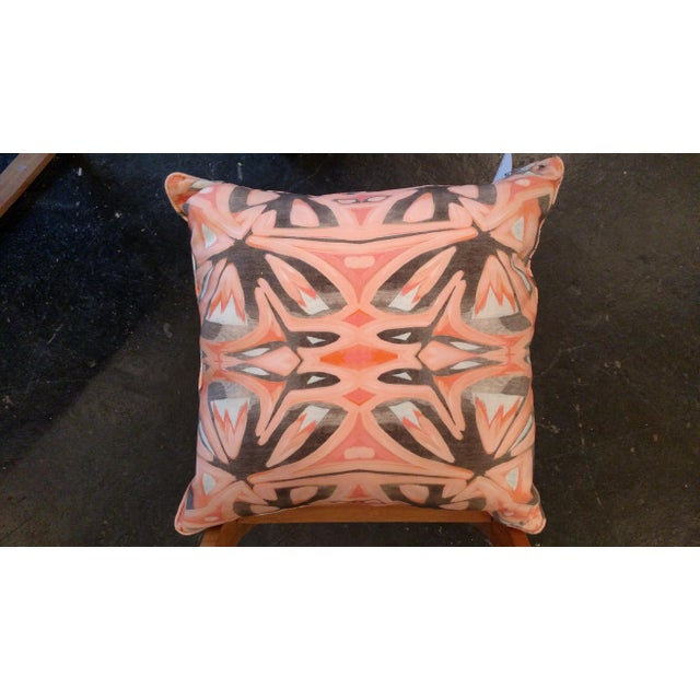 Small Peach Pillows by Amanda Talley - a Pair - Image 4 of 5