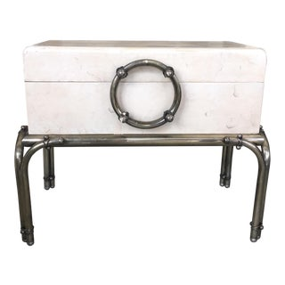 Mid-Century Trunk with Metal Legs
