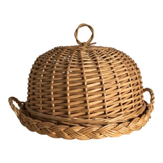 French Wicker Cloche
