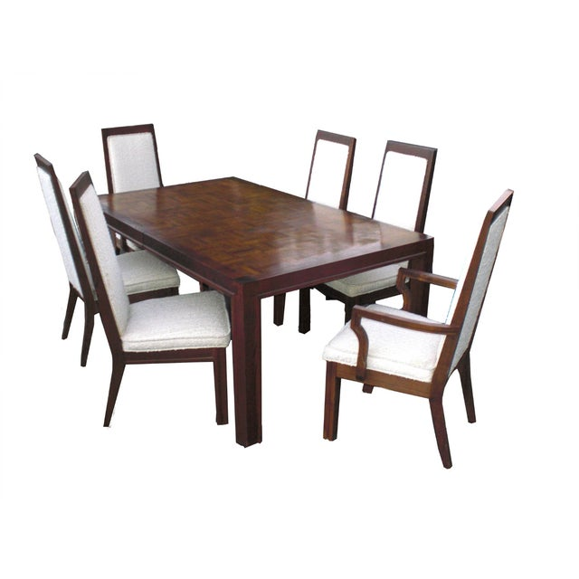 Mid-Century Modern Formica Wood Dining Set - Image 1 of 9