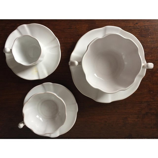 55 Piece-Rouard French Faience Glazed Terra Cotta Dinnerware-1950's - Image 5 of 8