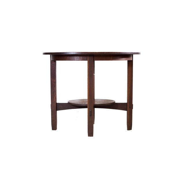 Stickley Brothers Large Oval Lamp Table - Image 3 of 3
