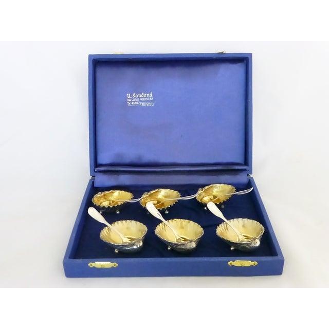 Antique Silver Shell Salt Cellars - Set of 6 - Image 3 of 11