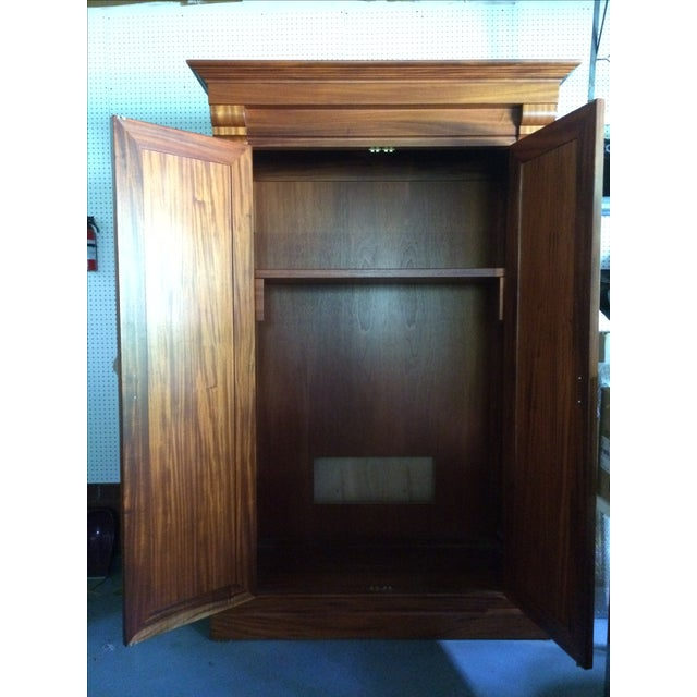Image of Solid Cherry Mission Style Armoire/Cabinet