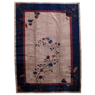 1920s Antique Art Deco Chinese Rug - 11′4″ × 15′9″