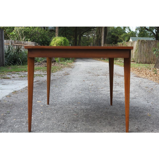 Mid-Century Danish Modern Walnut Surfboard Dining Table - Image 5 of 5
