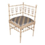 Image of Vintage Faux Bamboo Corner Chair