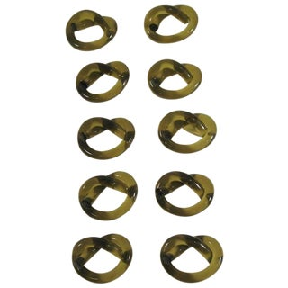 Thorpe Green Lucite Napkin Rings - Set of 10