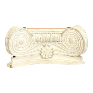White Ionic Column Capital
