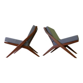 Mid-Century Style Scissor Lounge Chairs - A Pair