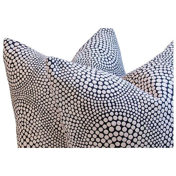 Modern Geometric Abstract Dot Pillows - A Pair - Image 3 of 7