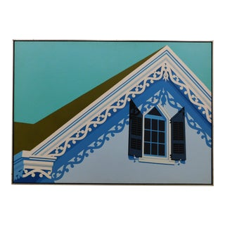 Pointed Window 1971 Painting by Betsey Bates