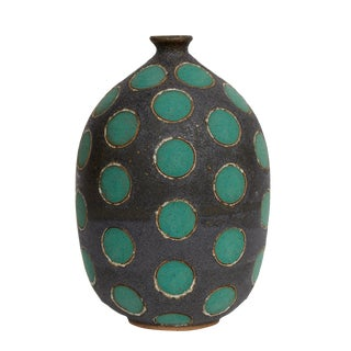 Matthew Ward Green Polkadot Vase
