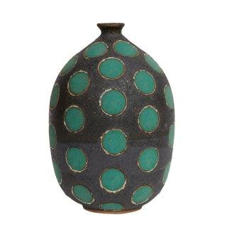 Matthew Ward Green Polkadot Vase