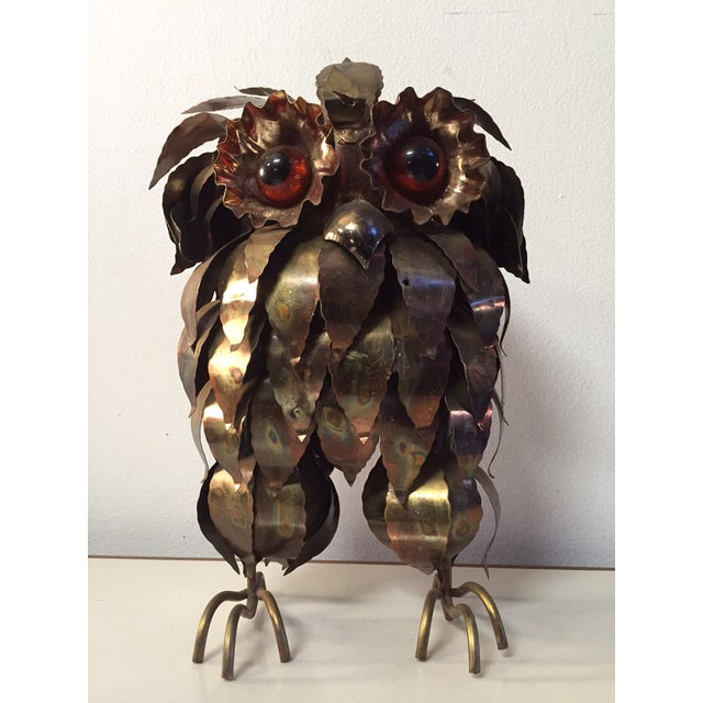 Mid-Century Brass Owl by Curtis Jere - Image 2 of 3