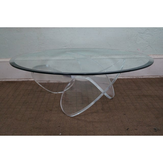 Knut Hesterberg Glass Top Lucite Base Coffee Table