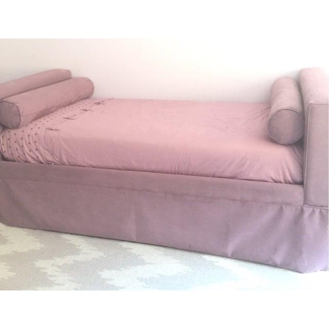 Ballard Designs Custom Upholstered Trundle Bed - Image 3 of 5