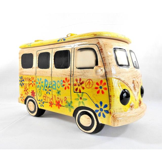 Image of Yellow Hippie Van Ceramic Cookie Jar