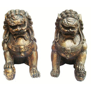 Palacial Pair Large Foo Dogs