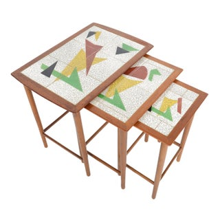 Danish Modern Memphis Milano Style Nesting Tables - Set of 3