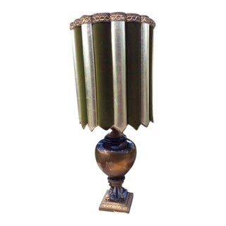 French Porcelain and Marble Base Lamp C. 1960's