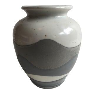 Blue & Grey Ceramic Vase
